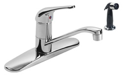 Gerber - 40-122 Maxwell Single Handle Kitchen Faucet with Side Spray - 8-Inch Centers
