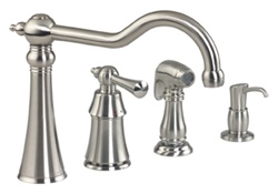 Gerber 40-182-SS Brianne Single Handle Kitchen Faucet, Stainless Steel Finish