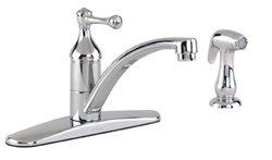 Gerber 40-192 Series Abigail™ Single Handle Kitchen Faucet w/Spray, Chrome Finish
