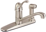 Gerber 40-350-SS Allerton Single Handle Kitchen Faucet, Stainless Steel Finish