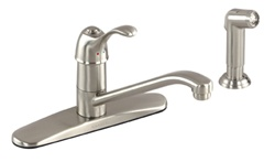 Gerber 40-150-SS Allerton Single Handle Kitchen Faucet, Stainless Steel Finish