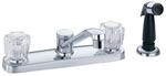 Gerber 42-111 Maxwell Kitchen Faucet, Acrylic Handles (Chrome)