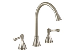 Gerber 42-716-SS Series Abigail™ Two Handle Kitchen Faucet with Traditional styling, Stainless Steel Finish