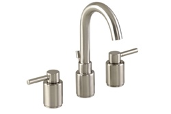 Gerber 43-092-BN - Wicker Park Two Handle 3 Hole Installation Widespread Lavatory Faucet for 8 to 12 inch centers, Brushed Nickel Finish