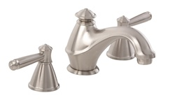 Gerber 43-095-BN Waveland Two Handle 3 Hole Installation Widespread Lavatory Faucet for 4 to 12-inch Centers, Brushed Nickel Finish