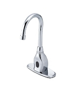 Gerber - ELECTRONIC LAVATORY FAUCET GOOSENK AC 4-inch W/MIXER - CHROME