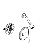 Gerber - 0049012 Plus Valve & Maxwell Shower Trim Combo