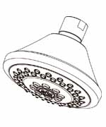 Gerber 0049117 - 3 Function Trasitional Showerhead with Brass Ball Joint, 1.75GPM, Chrome