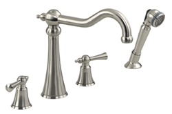 Gerber G8-310-BN Brianne™ Roman Tub Faucet with Tradtitional Styling, Hand Shower and Ceramic Disc Cartridges, Brushed Nickel