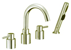 Gerber G8-312-BN Wicker Park™ Roman Tub Faucet with Contemporary styling, Hand Shower and Ceramic disc cartridges, Brushed Nickel