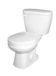 Gerber BX-21-402 - Complete Toilet package with Round Front Bowl, 1.6 gpf (6.0 Lpf) - 12-inch Rough In