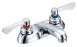 Gerber - COMCL 2 HANDLE LAVATORY FAUCET 4-inch CER LEVER HANDLES L/POP-UP - CHROME