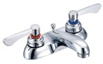 Gerber - COMCL 2 HANDLE LAVATORY FAUCET 4-inch CER LEVER HANDLES POP-UP - CHROME