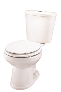 Gerber DF-21-102 Maxwell Dual Flush Round Front Two-Piece Toilet - 12-inch Rough-In