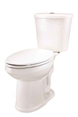 Gerber DF-21-124 Maxwell Dual Flush Elongated ErgoHeight Two-Piece Toilet - 14-inch Rough-In