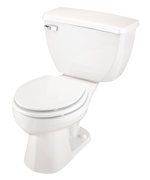 Gerber DF-21-302 Ultra Dual Flush Round Front Two-Piece Toilet - 12-inch Rough-In