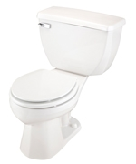 Gerber DF-21-304 Ultra Dual Flush 1.6 gpf Round Front Two-Piece Toilet - 14-inch Rough-In