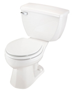 Gerber EF-21-304 Ultra Flush 1.1 gpf Round Front Two-Piece Toilet - 14-inch Rough-In