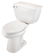 Gerber EF-21-319 Ultra Flush 1.1 gpf ErgoHeight™ Elongated Two-Piece Toilet with Bedpan Lugs - 12-inch Rough-In