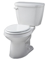 Gerber HE-21-502 - Viper™ 1.28 gpf (4.8 Lpf) High Efficiency Round Front Two Piece Toilet, 12-inch Rough-In