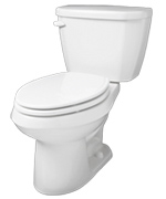 Gerber HE-21-510 - Viper™ 1.28 gpf (4.8 Lpf) Elongated Two Piece Toilet, 10-inch Rough-In