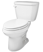 Gerber HE-21-512 - Viper™ 1.28 gpf (4.8 Lpf) Elongated High Efficiency Two Piece Toilet, 12-inch Rough-In