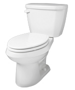 Gerber HE-21-514 - Viper™ 1.28 gpf (4.8 Lpf) Elongated High Efficiency Two Piece Toilet, 14-inch Rough-In