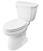 Gerber HE-21-524 - Viper™ 1.28 gpf (4.8 Lpf) Elongated, ErgoHeight™ 2 Piece Toilet, 14-inch Rough-In