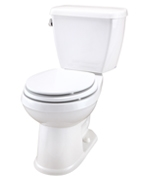 Gerber LS-21-818 - Avalanche™ LS 1.28 gpf (4.8 Lpf) Elongated, ErgoHeight™ 2 Piece Toilet, 12-inch Rough-In
