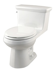 Gerber RF-21-017 Maxwell One-Piece Round Front Gravity-Fed Toilet - 12-inch Rough-In