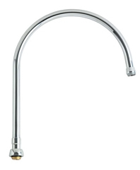 Chicago Faucet GN10AE3SWGJKABCP 10-inch Inlet to Outlet Projection Gooseneck Swing Spout