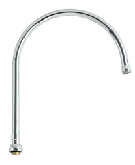 Chicago Faucets GN12ASWGJKABCP - 12-inch Gooseneck Spout-A Type End