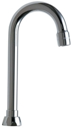 Chicago Faucets - GN1AE3JKABCP - Gooseneck Spout-A Type End