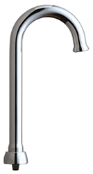 Chicago Faucets GN1FCJKABCP - 3-1/2-inch Flow Control Rigid / Swing Gooseneck Spout