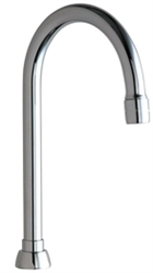 Chicago Faucets GN2AE3JKABCP - 5-1/4-ich Rigid / Swing Gooseneck Spout