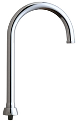 Chicago Faucets GN2AFCJKABCP - 5-1/4-inch Flow Control Rigid / Swing Gooseneck Spout