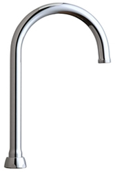 Chicago Faucets GN2AJKABCP - 5-1/4-inch Rigid / Swing Gooseneck Spout