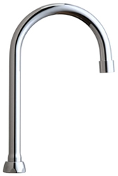 Chicago Faucets GN2BJKABCP - 5-1/4-inch Rigid / Swing Gooseneck Spout