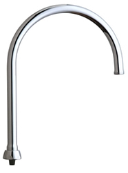 Chicago Faucets GN8AFCJKABCP - 8-inch Flow Control Rigid / Swing Gooseneck Spout