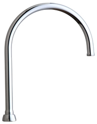 Chicago Faucets GN8AJKABCP - 8-inch Rigid / Swing Gooseneck Spout