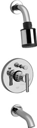 Graff - G-7170-LM27S-SN - Tango Contemporary Pressure Balancing Tub & Shower Set