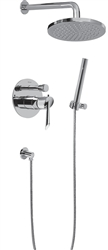 Graff G-7278-LM25B-SN - Atria Series Full Pressure Pressure Balancing Combo Shower System with Hand Held
