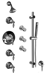 Graff - GA1.2-LM14S-OB - Topaz Traditional Thermostatic Set with Handshower and Body Sprays