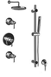 Graff - GB2.0-LM25B-BN-T - Atria Contemporary Round Thermostatic Set with Handshower- Trim Only