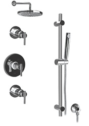 Graff - GB2.0-LM27S-SN-T - Tango Contemporary Round Thermostatic Set with Handshower- Trim Only