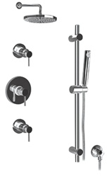 Graff - GB2.0-LM30B-BN-T - Viva Contemporary Round Thermostatic Set with Handshower- Trim Only