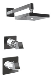 Graff - GC3.0-C10S-SN-T - Fontaine Contemporary Square Thermostatic Set- Trim Only