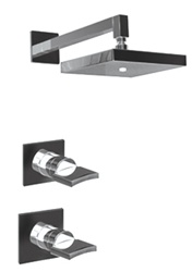 Graff - GC3.0-C14S-SN-T - Targa Contemporary Square Thermostatic Set- Trim Only