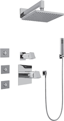Graff - GC5.122A-C10S-SN Fontaine Full Thermostatic Shower System with Diverter Valve