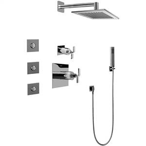 Graff GC5.122A-C9S-SN - Immersion Satin Nickel Full Thermostatic Shower System with Diverter Valve
